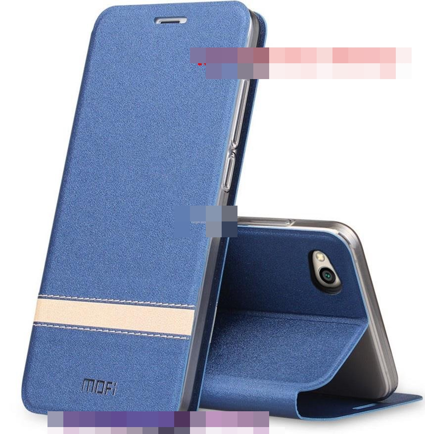 Mofi Xiaomi Redmi 5A Flip PULeather Stand Armor Case Cover Casing