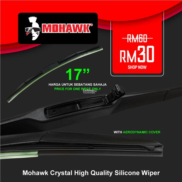 MOHAWK Accessories Mohawk Crystal High Quality Silicone Wiper 17