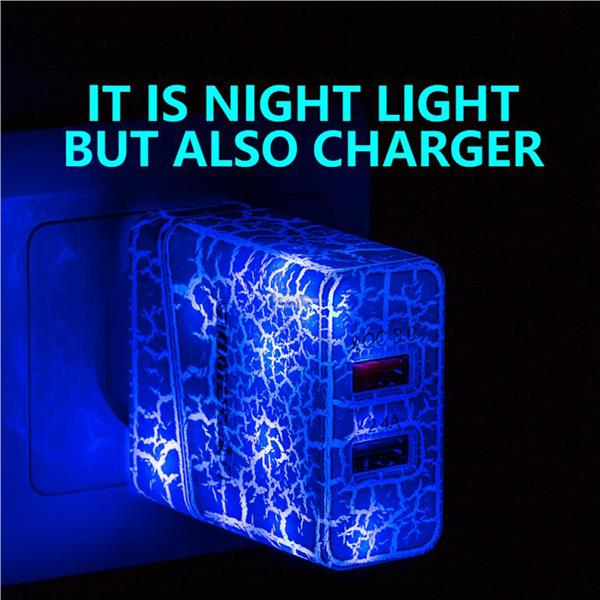 MOMEN LED Glow Light Quick Charge 3.0 USB Travel Charger
