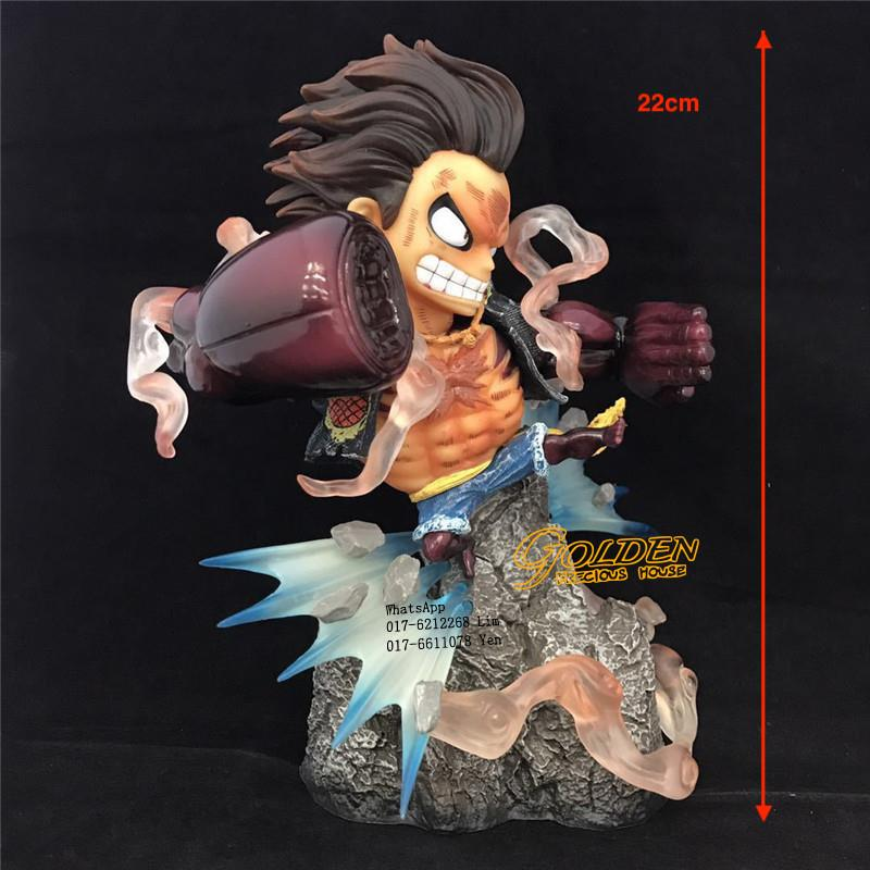 Monkey D Luffy Anime One Piece Fight Gear 4 Action Figure 22cm
