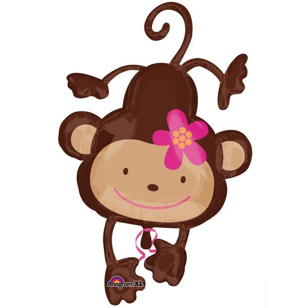 monkey love super shape foil balloon 24479