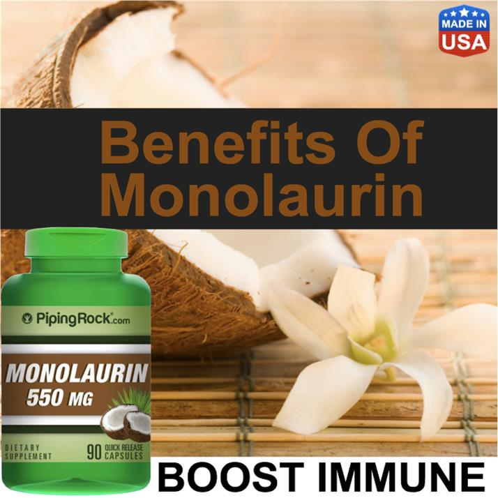 Monolaurine 500mg, Boost Immune, Digestive, Kills Virus, Skin Health