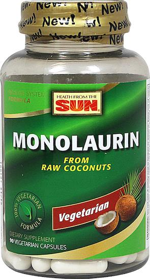 Monolaurine 990mg, Boost Immune, Digestive, Kills Virus (Vegetarian)
