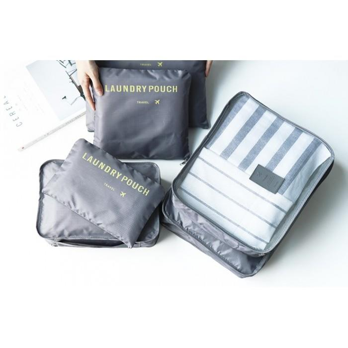 dbf63e912b88 Monopoly Travel 6 IN 1 Luggage Packing Organizer Bag Pouch