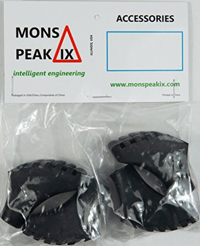 Mons Peak IX Nordic Walking Poles Rubber Tips (4-Pack)/From USA
