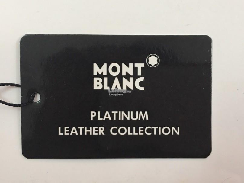 Mont Blanc Platinum Leather Sling Bag / Beg