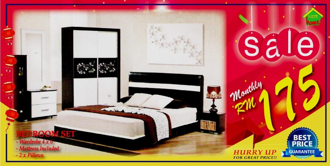 MONTHLY PAYMENT INSTALLMENT PLAN BEDROOM SET RM175