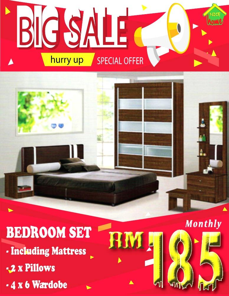 MONTHLY PAYMENT INSTALLMENT PLAN BEDROOM SET RM185