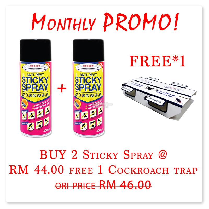 Monthly Promo-Sticky Spray free cockroach trap-house flies,cockroach