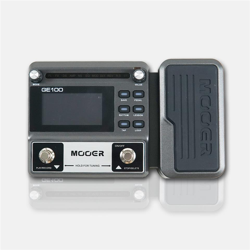 Mooer GE100 Multi-Effects Pedal Processor + Free 9V power adapter