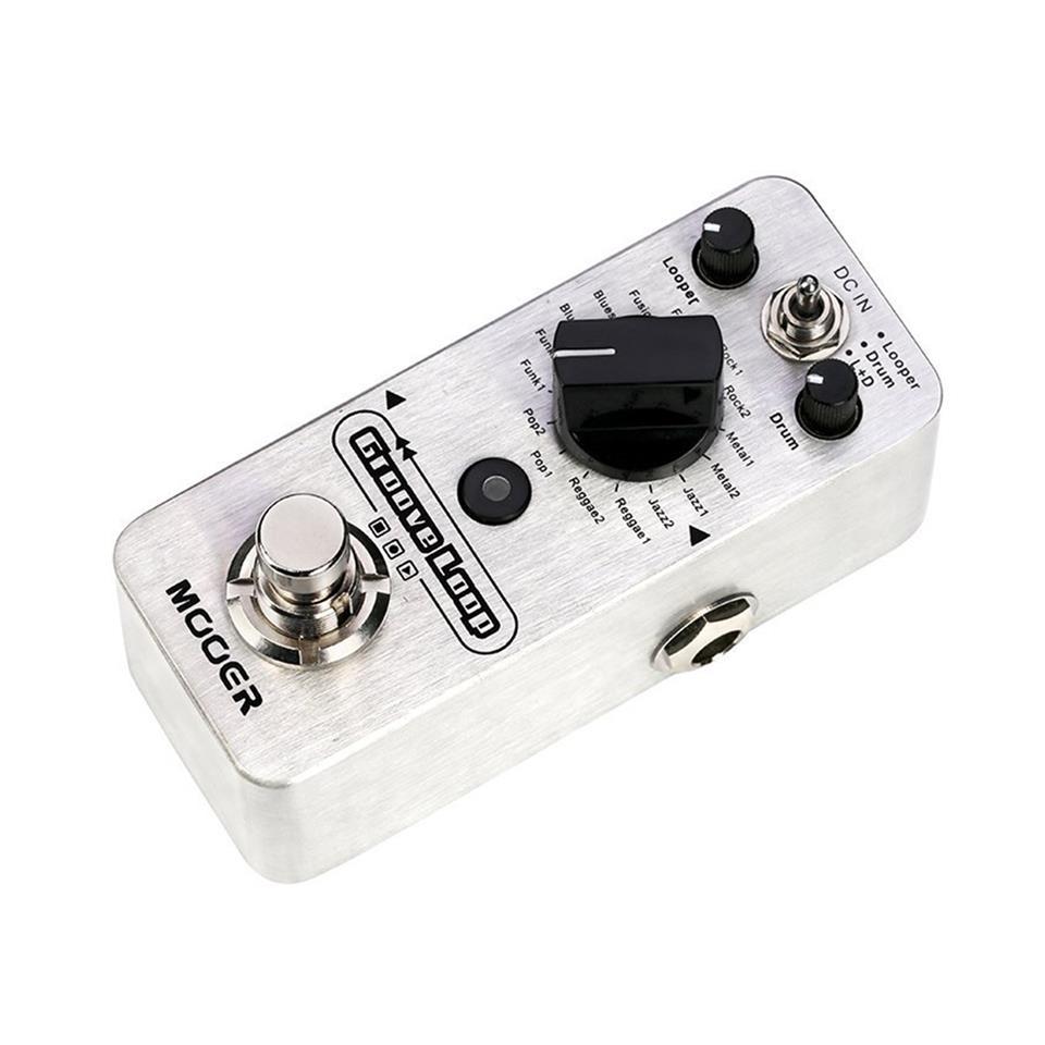 MOOER Groove Loop Drum Machine & Looper Pedal + 9V Power Adapter