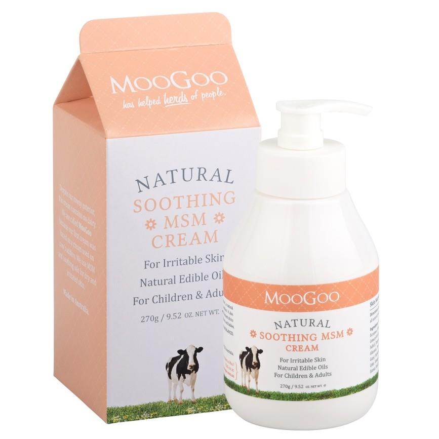 MooGoo MSM Soothing Cream 270g (Soothe Eczema & Itchy Skin)