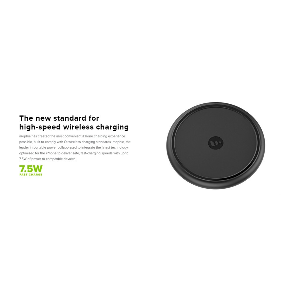 competitive price 92b27 fe17c Mophie Wireless Charging Base 7.5W 1 Year Warranty