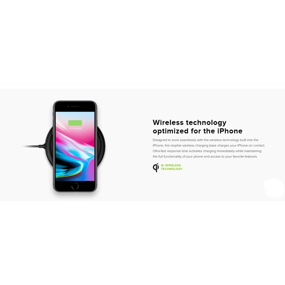 competitive price a345c 6bde5 Mophie Wireless Charging Base 7.5W 1 Year Warranty