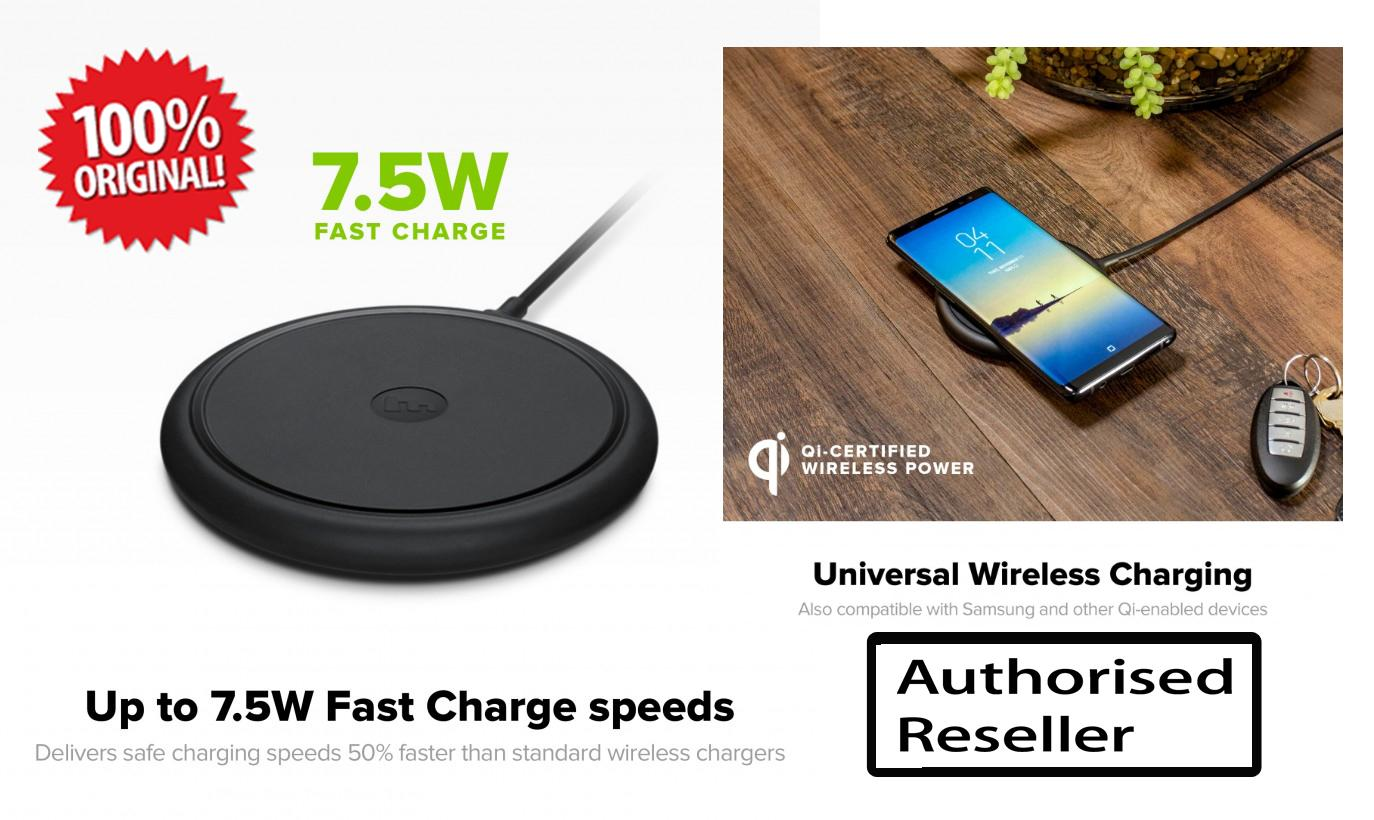 new product e918a 60b20 Mophie Wireless Charging Base 7.5W for Qi-enabled Device - Black