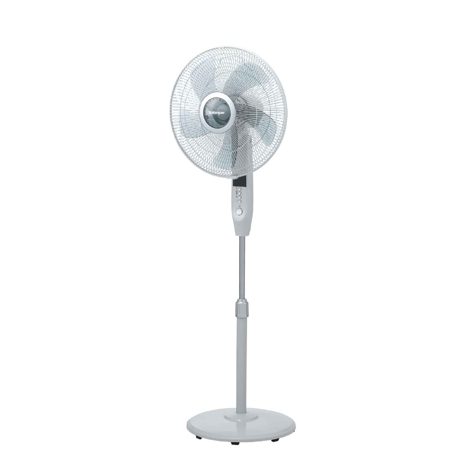 "Morgan Stand Fan MSF-16P3R (16"") 5 Blades With Remote Control"