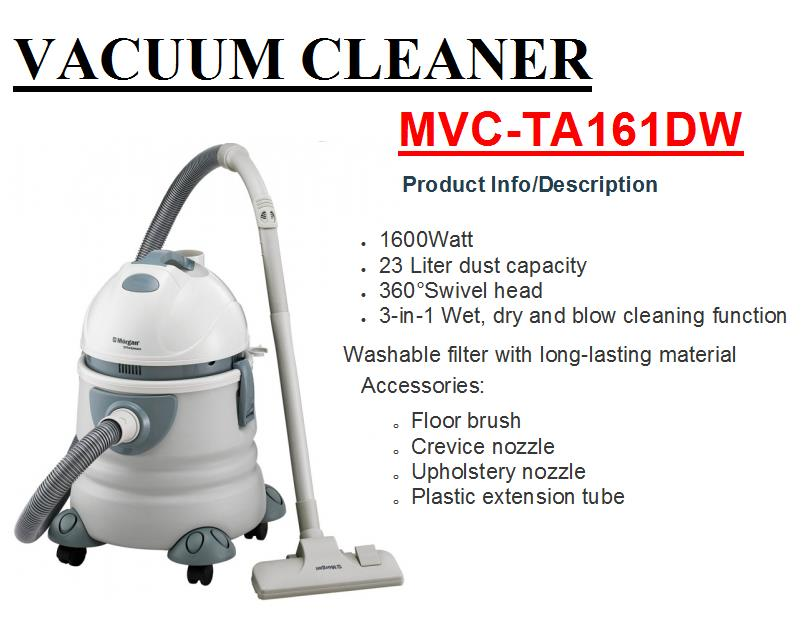 Morgan Vacuum Cleaner-MVC-TA161DW