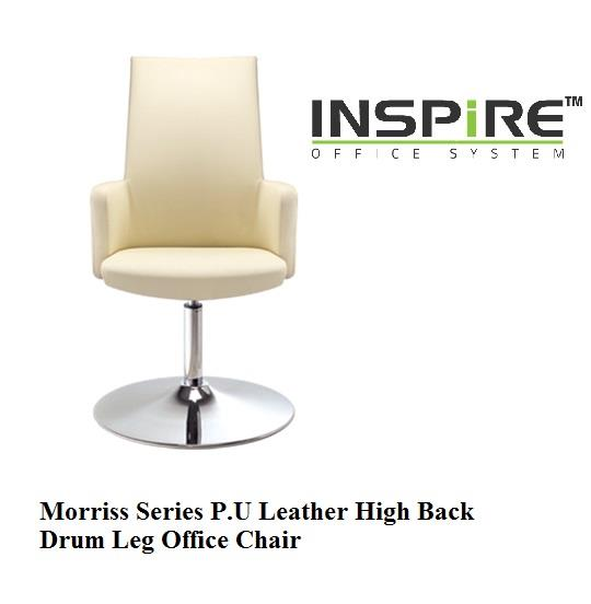 Morriss Series P.U Leather High Back Drum Leg Office Chair
