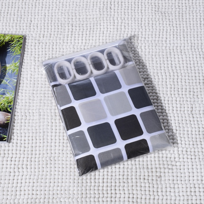 Mosaic Shower Curtain Mold Mild Polyester Cloth Thick Waterproof