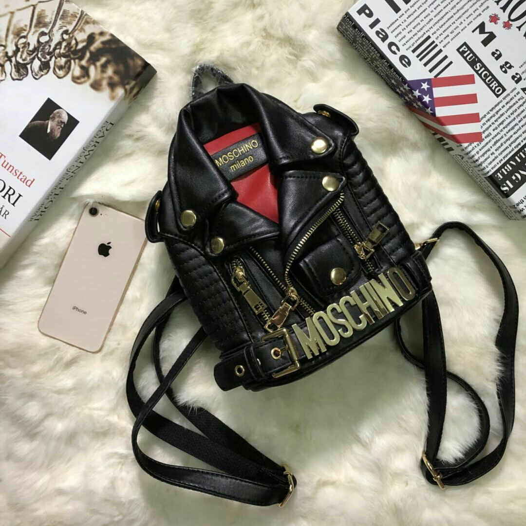 80eec525302 MOSCHINO Backpack Men Women PU Leat (end 2/20/2021 12:00 AM)