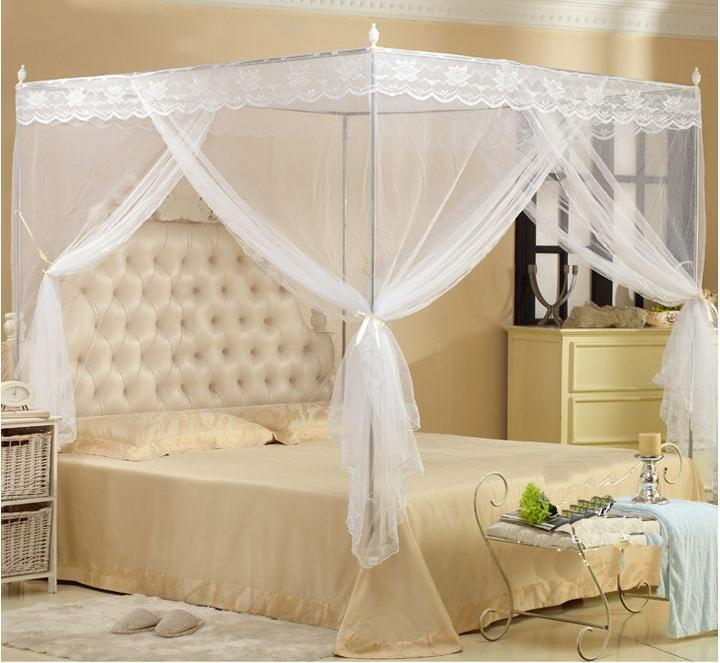 Mosquito Net White Color Lace Bed Canopy 5Ft Queen Size & Mosquito Net White Color Lace Bed Ca (end 4/23/2018 3:15 PM)