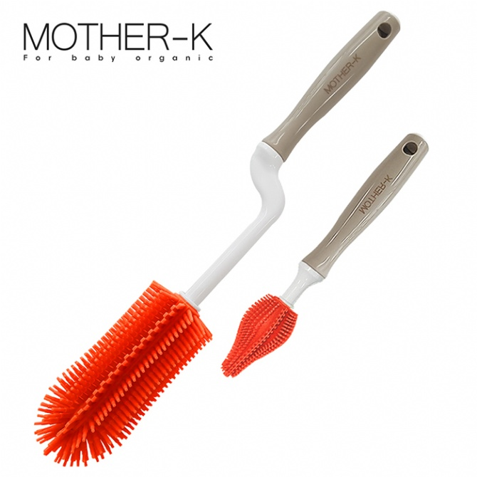 Mother-K Silicone Brush 2 Kinds Of Sets - Ruby Grapefruit