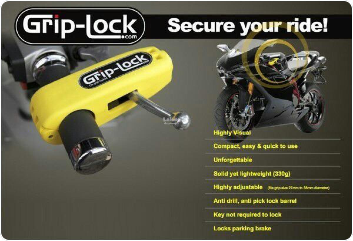 Grip Lock Motorcycle Security Lock