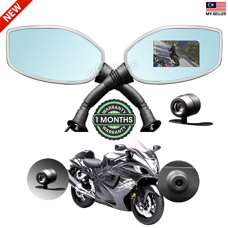"motorcycle camera photo  Motorcycle 2.4"" Rearview Mirror Twin (end 5/23/2020 6:00 PM)"