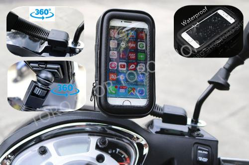 Motorcycle Bike Mobile Phone Note Holder Iphone Samsung HTC Nokia Sony