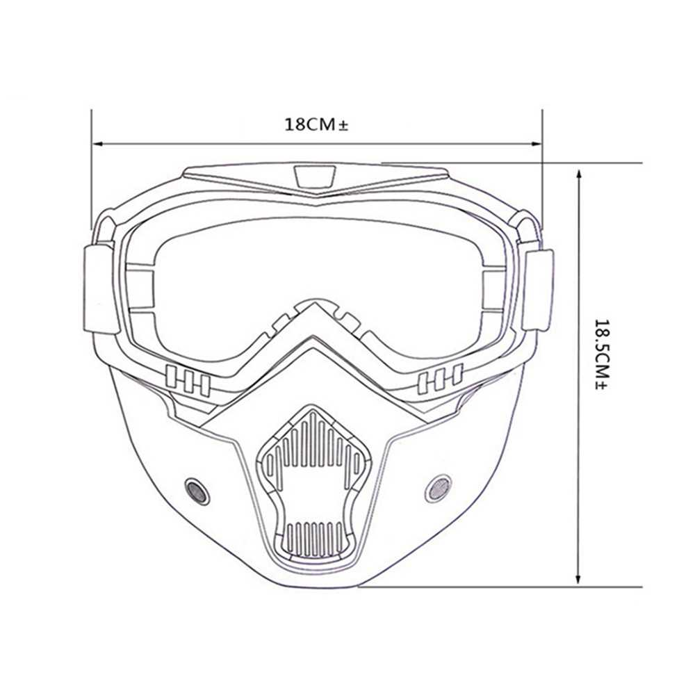 Motorcycle Cross Country Mask Tactical Goggles (Grey)