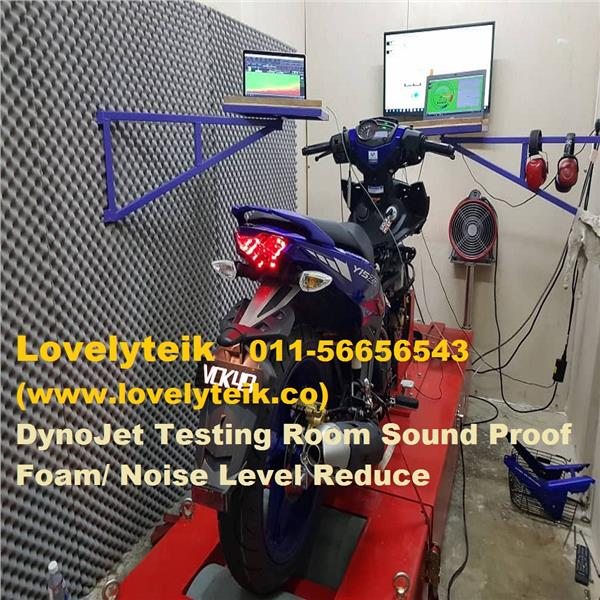 Motorcycle Dyno Testing Lab Sound Proof Foam Dynojet Sound Reduce