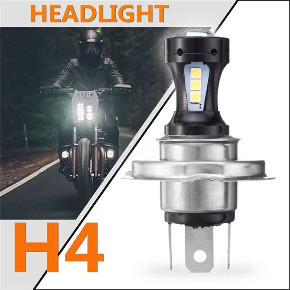 Motorcycle H4 3030 LED Hi-Lo Beam Headlight Head Light Lamp Bulb 6500K 12-24v