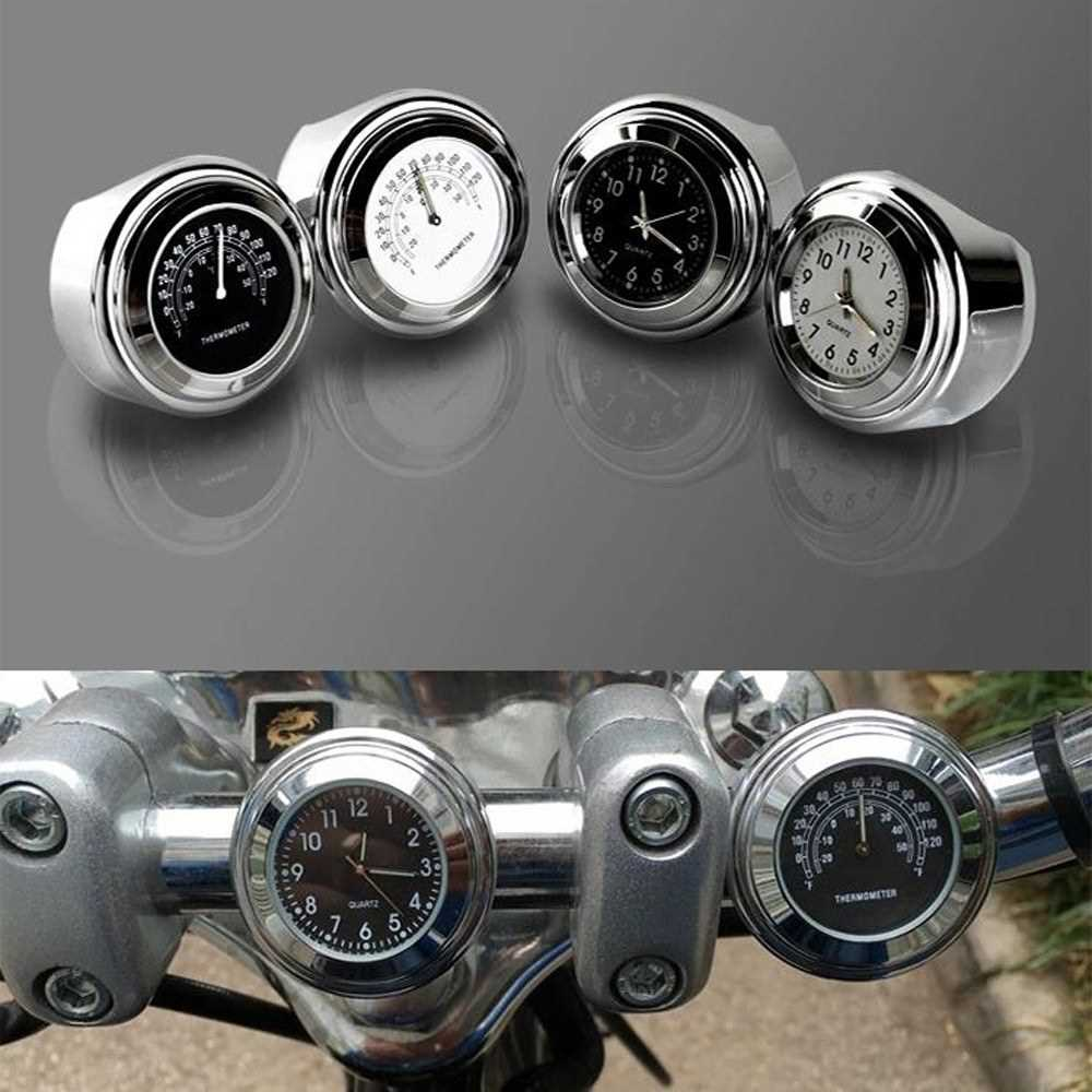 Motorcycle Waterproof Handlebar Mount Dial Clock Motor Fittings