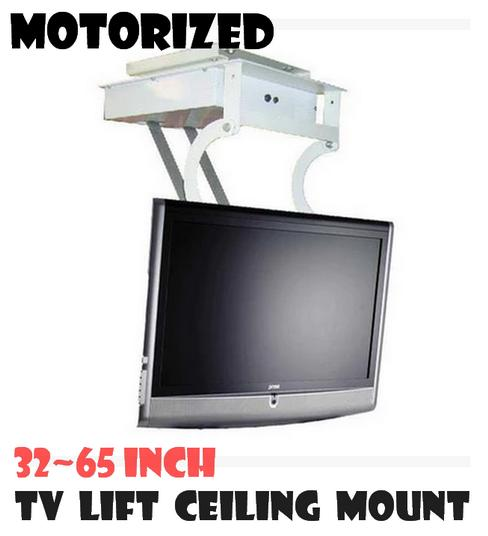 Fold down ceiling tv brackets home safe for Samsung motorized tv wall mount