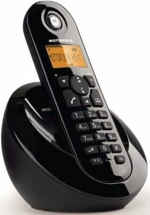 MOTOROLA C601 SINGLE DIGITAL CORDLESS PHONE BLACK