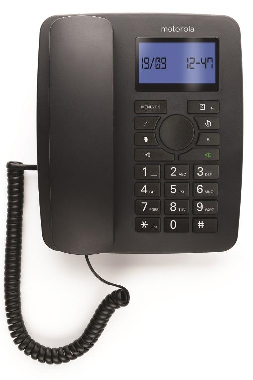 MOTOROLA DIGITAL WIRED/CORDLESS COMBO PHONE (C4201) BLK