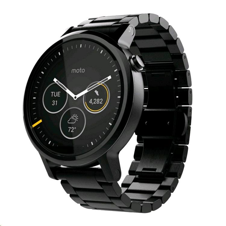 moto 360. motorola moto 360 (2nd gen.) (mens 46mm black case, metal o