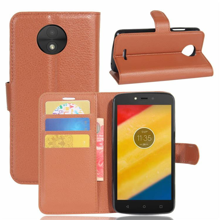 Motorola moto c plus e4 plus leather flip wallet case casing cover