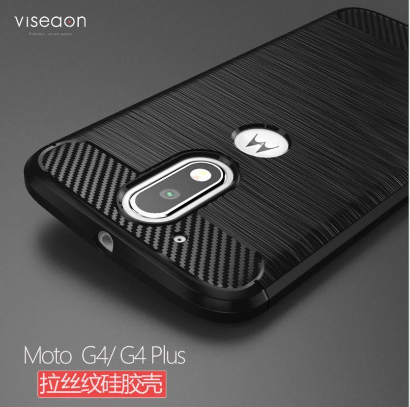 more photos 04b6d 4565f Motorola Moto G4 | G4 Plus Durable Carbon Fiber TPU Case Cover