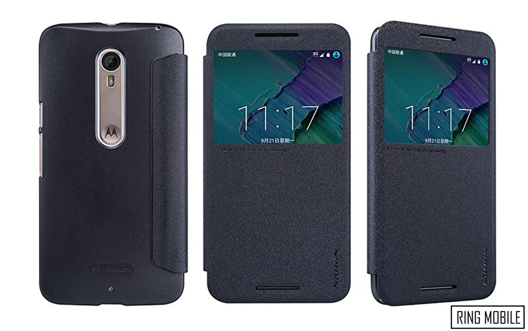 Motorola Moto X Style Nillkin Sparkle series Leather Case - Black