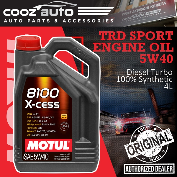 Motul 8100 X-cess 5W40 5L 8100 Engine Lubricants - 100% Synthetic