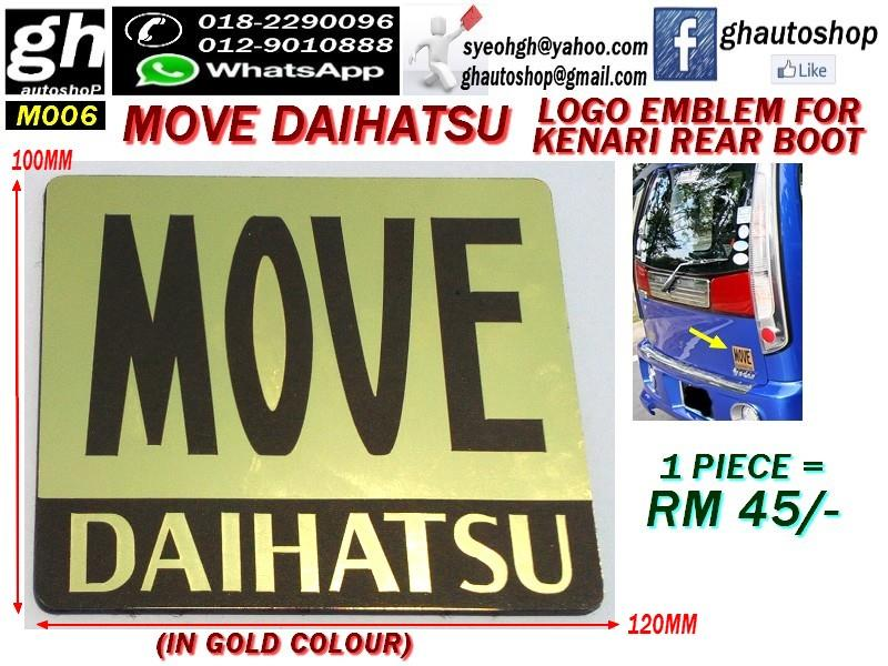 MOVE DAIHATSU GOLD type rear boot emblem for KENARI