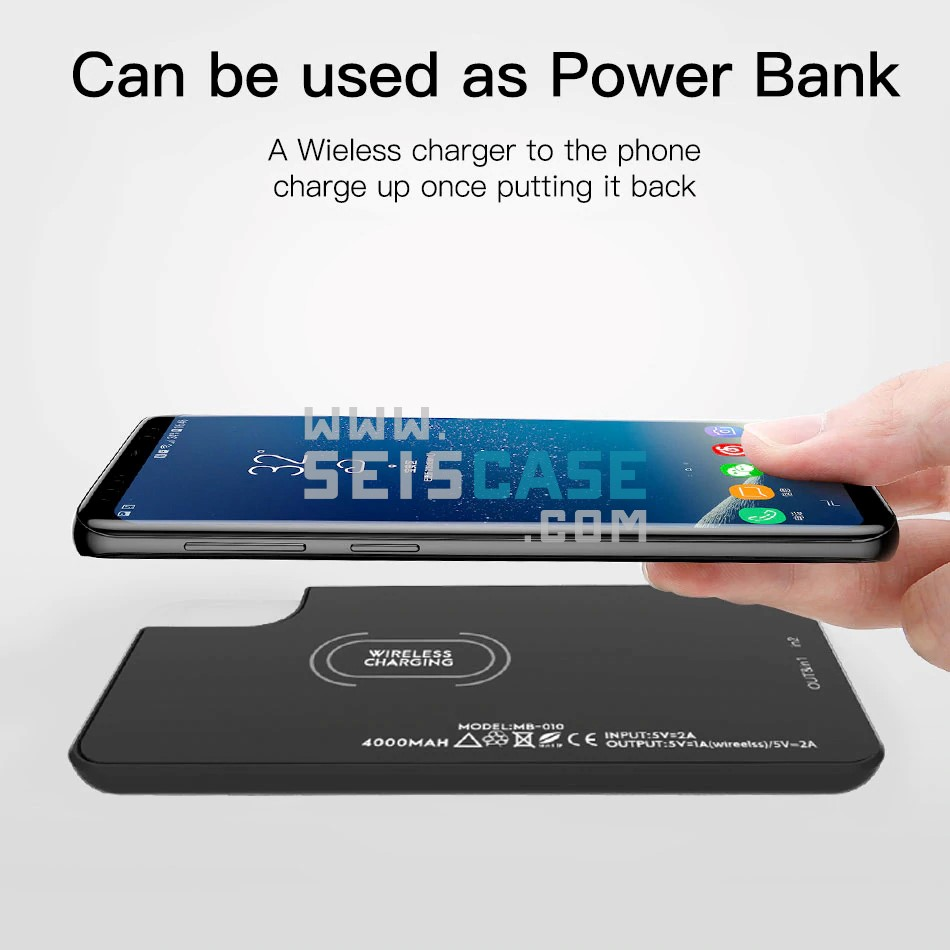 the best attitude 7f9b1 06f15 Moxom 2 in 1 iPhone X 8 Wireless Charging Bank Power Case 4000 mah
