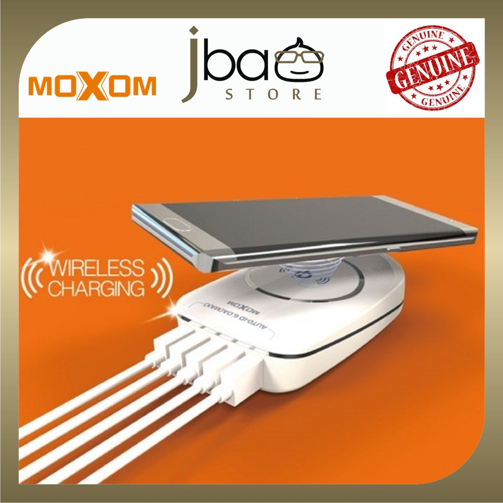 Moxom KH-50 5 USB AUTO-ID Travel Wireless Charger Pad Desktop Portable