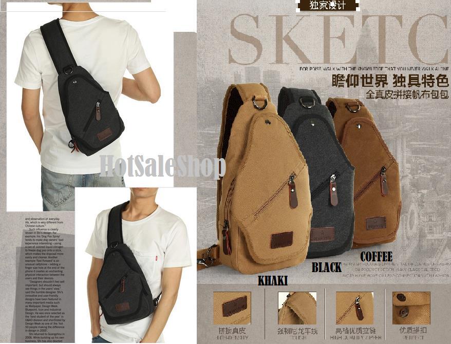 Moyyi Korean Men Shoulder Canvas Bag/Sling Bag/Messenger Bag (HSSB45)