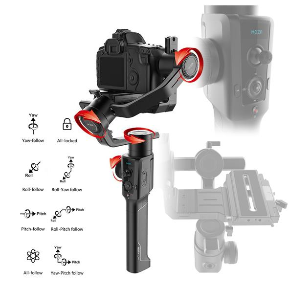 Moza Air2 3-Axis Gimbal Motorise DSLR Stabilizer with F-Control Wheel