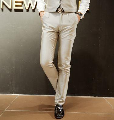 MPF04 Men Suit Formal Slim Fit Black Long Trouser Pants