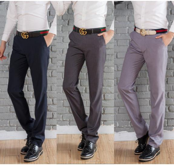 MPF04 Men Suit Slim Fit Long Trouser Pants