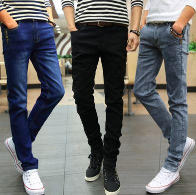 MPL05 Korean Slim Fit Men Long Jeans