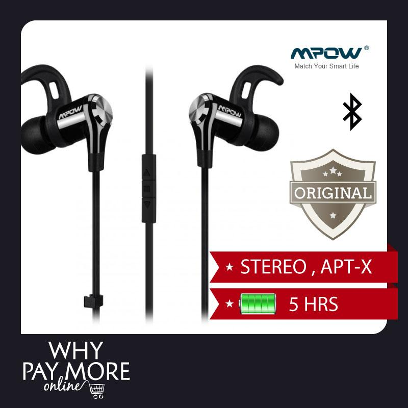 Mpow Petrel Headphone Bluetooth 4.0 Wireless 5 hours Stable Piston